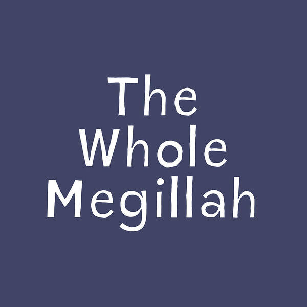 The Whole Megillah Navy And White- Art By Linda Woods Poster
