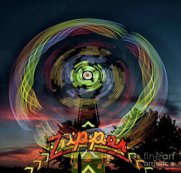 The Zipper Motion Art By Kaylyn Franks Poster