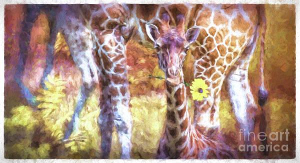 The Whimsical Giraffe  Poster