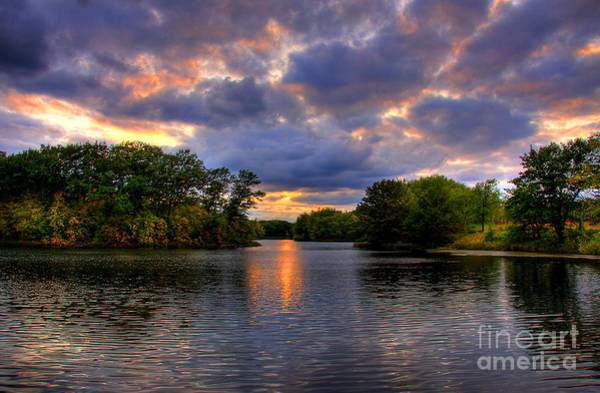 Thomas Lake Park In Eagan On A Glorious Summer Evening Poster