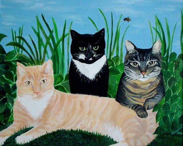 Three Furry Friends Poster