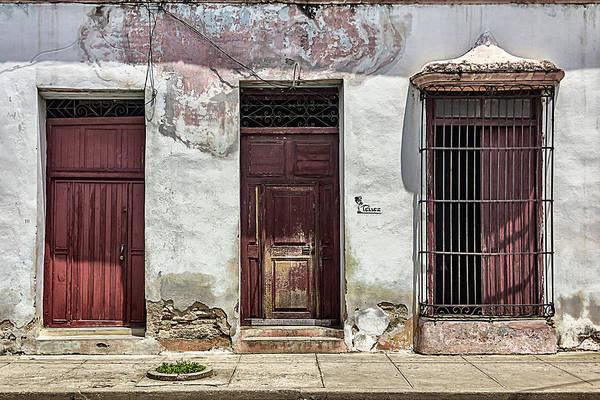 Three Red Doorways Poster