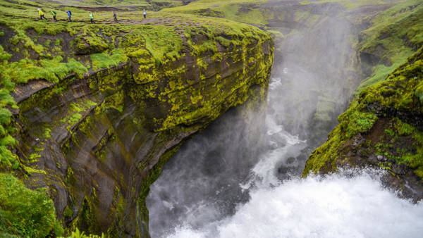 Thundering Icelandic Chasm On The Fimmvorduhals Trail Poster