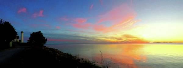 Sunset At Tibbetts Point Light, 2015 Poster