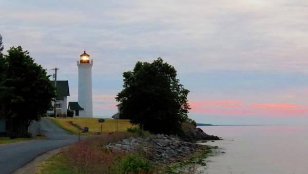 Tibbetts Point Light Sunset Poster