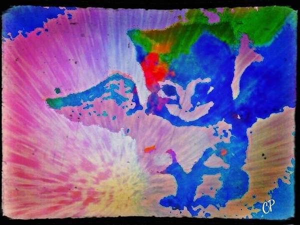 Tie Dye Tiger Poster