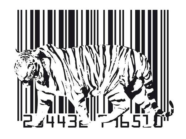 Tiger Barcode Poster