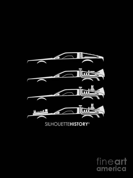 Time Machine Silhouettehistory Poster