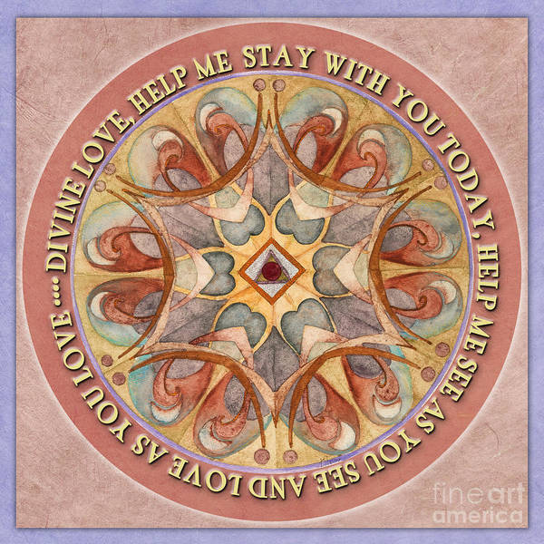 To See As Love Sees Mandala Prayer Poster