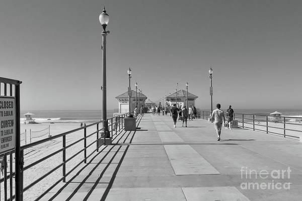 To The Sea On Huntington Beach Pier Poster