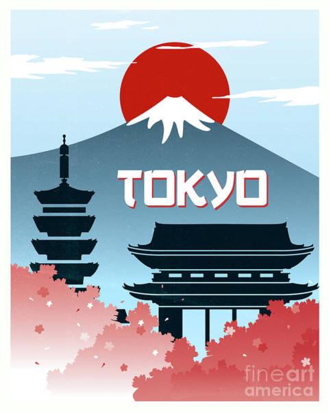 Tokyo Vintage Poster Travel Poster