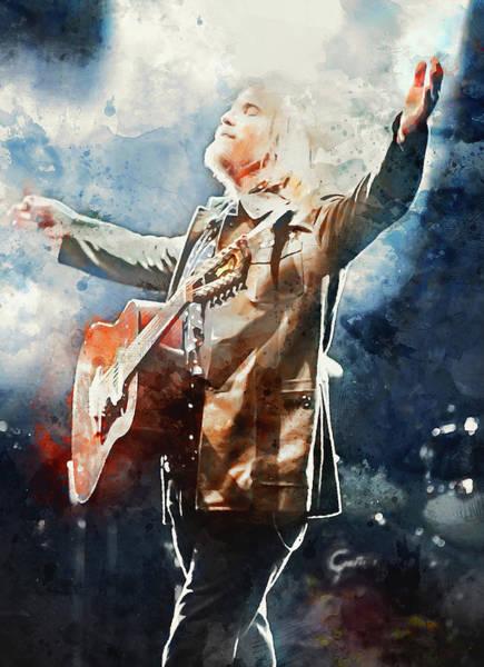 Tom Petty - Watercolor Portrait 13 Poster