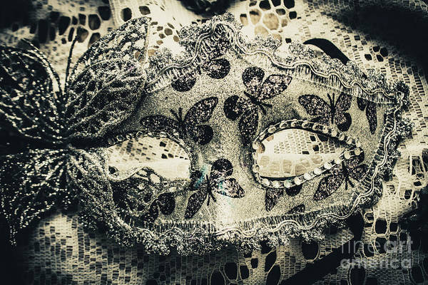Toned Image Of Beautiful Festive Venetian Mask Poster