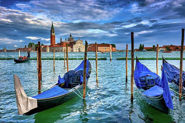 Gondolas And San Giorgio Di Maggiore In Venice, Italy Poster