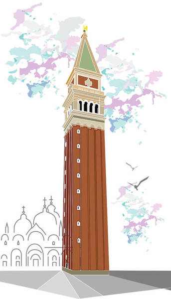 Tower Of Campanile In Venice Poster