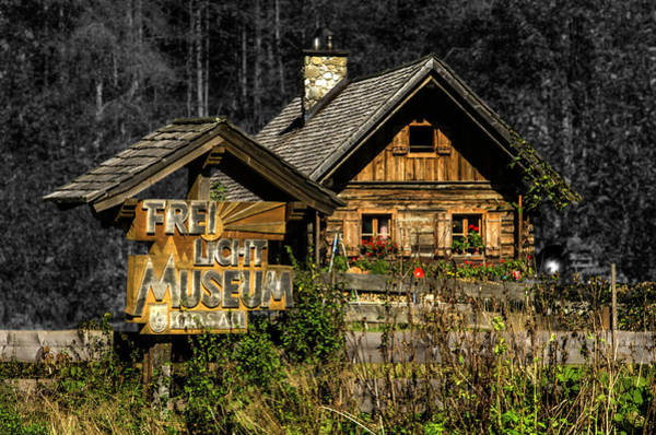 Traditional Austrian Wooden House Poster