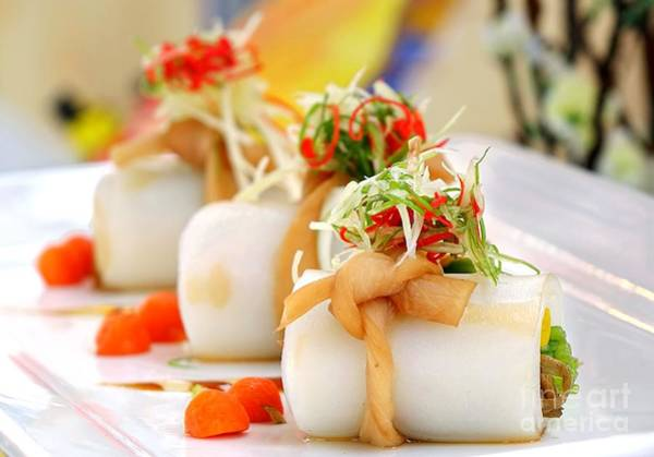 Traditional Chinese Hakka Rice Noodle Roll Poster