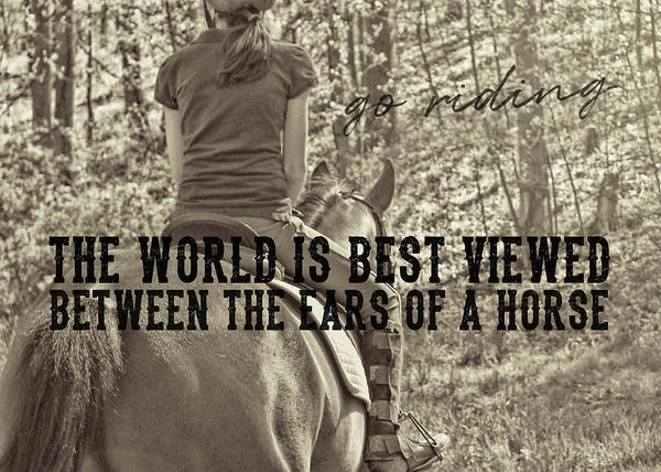 Trail Ride Quote Poster