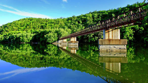 Tranquility At The James River Footbridge Poster