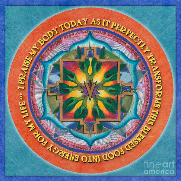 Transformation Mandala Prayer Poster