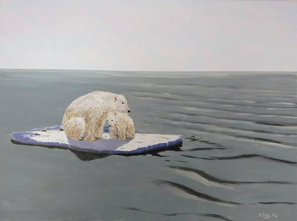 Poster featuring the painting Stranded by Kevin Daly