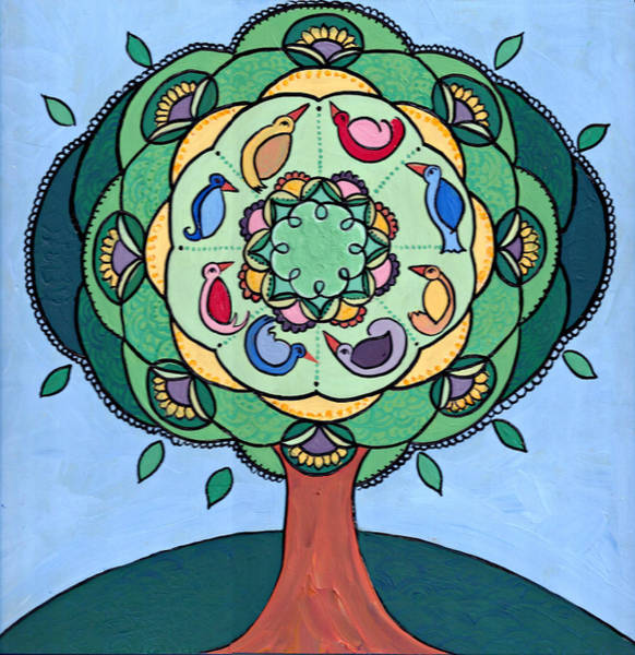 Poster featuring the painting Tree Of Life by Caroline Sainis