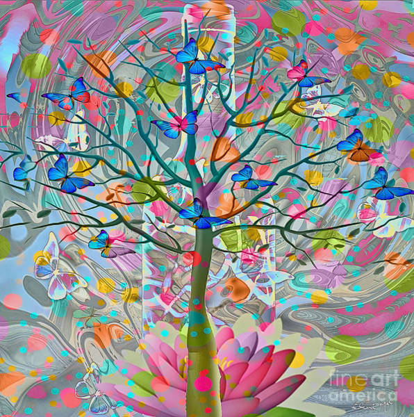 Poster featuring the digital art Tree Of Life by Eleni Mac Synodinos