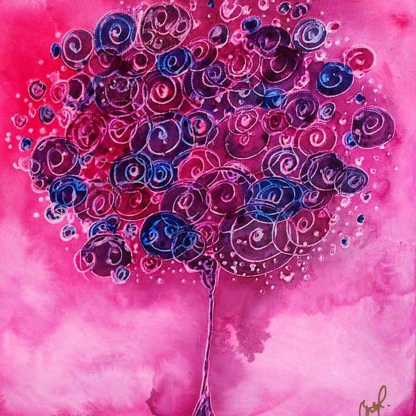 Tree Of Life Pink Swirl Poster