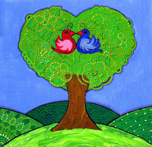 Poster featuring the painting Tree Of Love by Caroline Sainis
