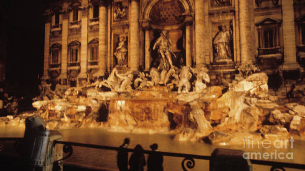 Trevi At Night Poster