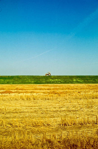 Tricolor With Tractor Poster