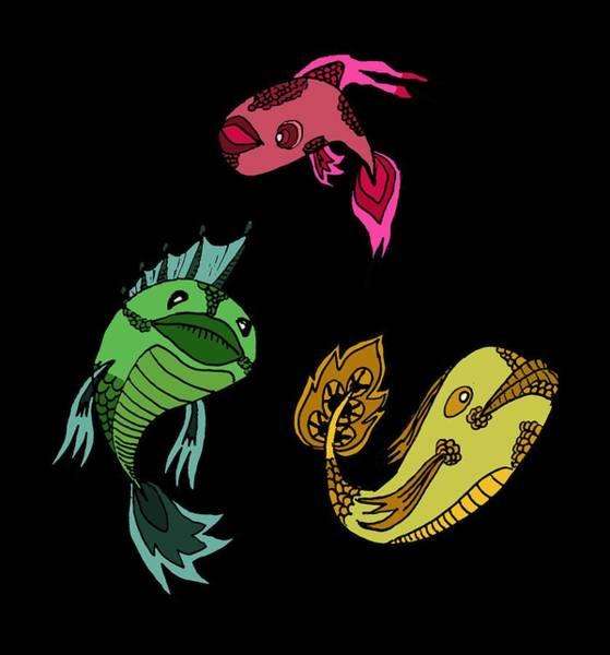 Trio Fish Poster