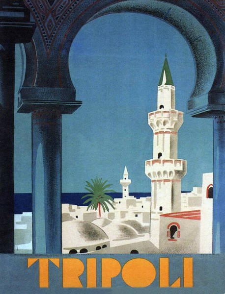 Tripoli, View On A Great Mosque Poster