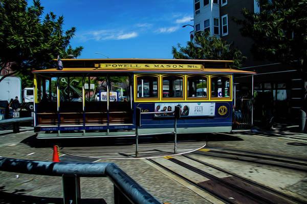 Trolley Car Turn Around Poster