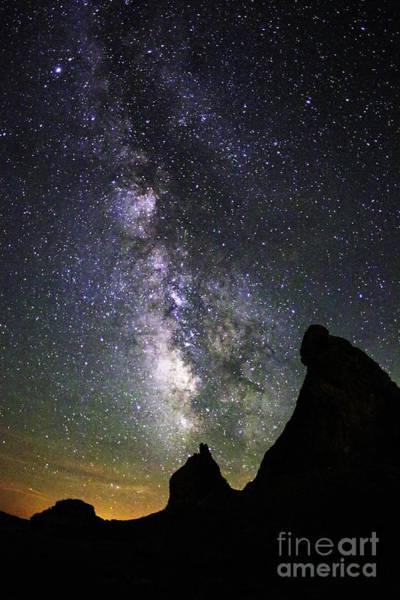 Trona Pinnacles Milky Way Poster