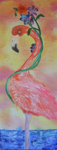 Tropical Flamingo Poster