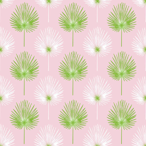 Tropical Leaves On Pink 2- Art By Linda Woods Poster
