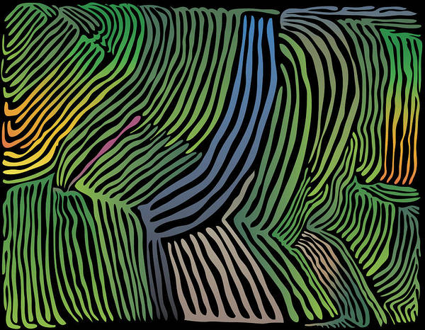 Tropical Striations Poster