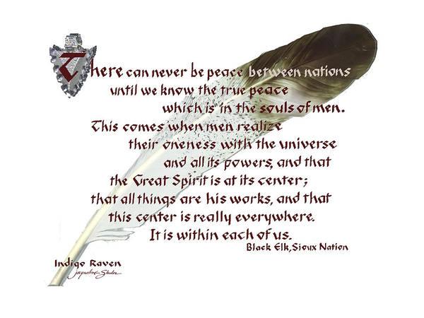 True Peace By Black Elk Poster