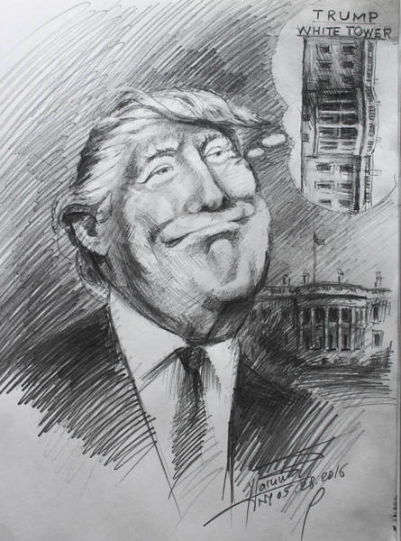 Trump White Tower  Poster