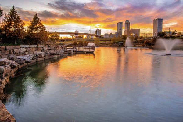 Tulsa Skyline Sunset - Oklahoma Cityscape Poster