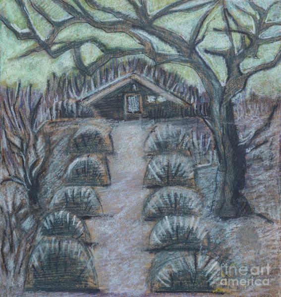 Twilight In Garden, Illustration Poster