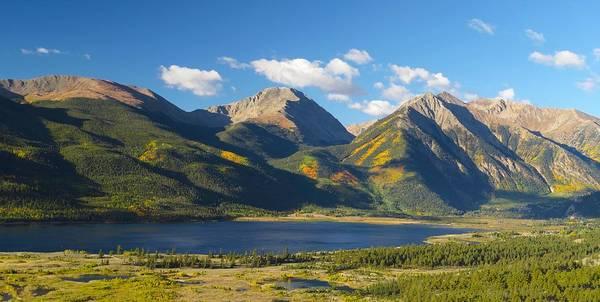 Twin Lakes/twin Peaks Colorado Fall Poster