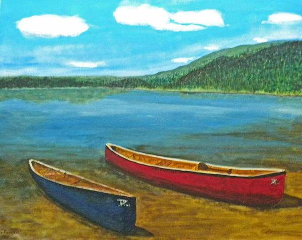 Two Canoes Poster