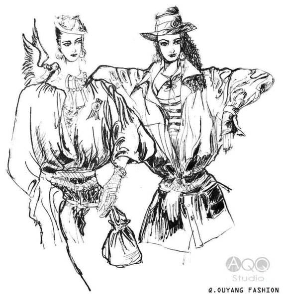 Two Fashion Girls Poster