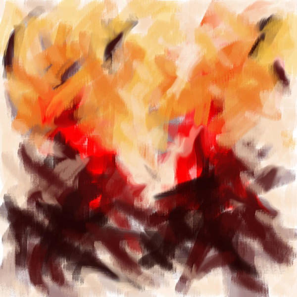 Two To Tango Abstract Poster