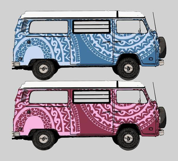 Two Vw Vans Poster