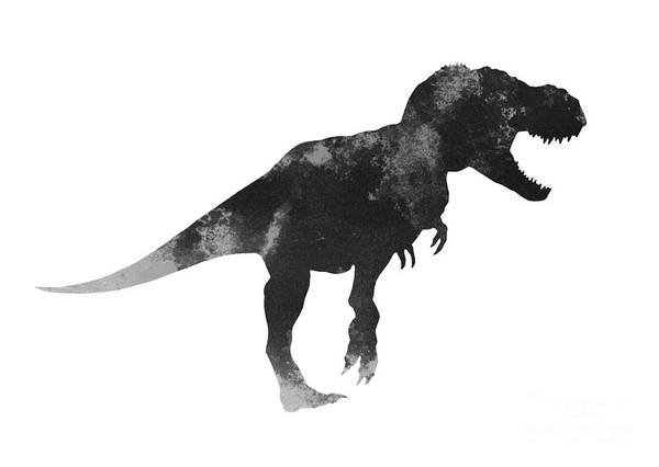 Tyrannosaurus Figurine Watercolor Painting Poster