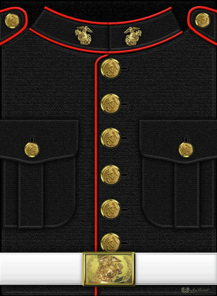 U S M C Dress Uniform Poster