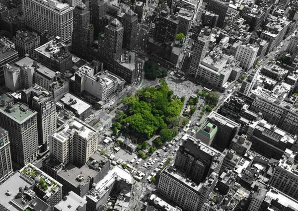 Poster featuring the photograph Union Square Park by Rand